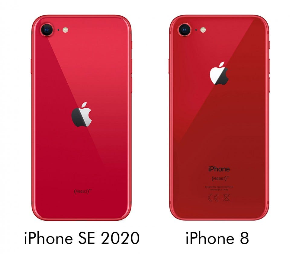 iPhone SE 2020 and iPhone 8 comparison