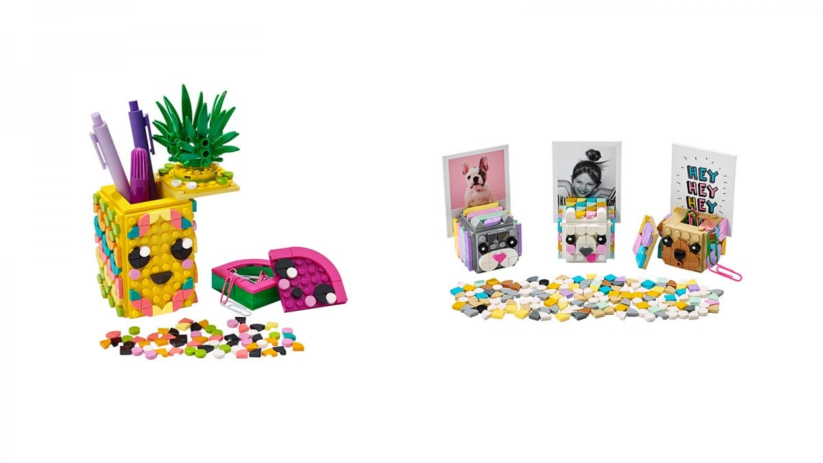 LEGO DOTS Pineapple Pencil Holder and Animal Picture Holders