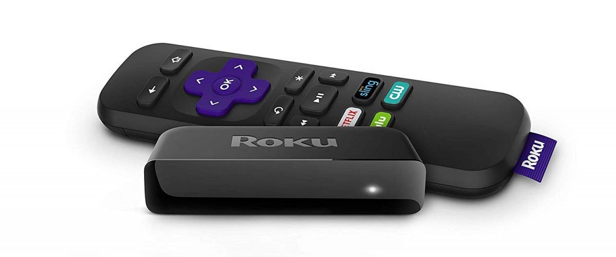 A Roku Express with remote.