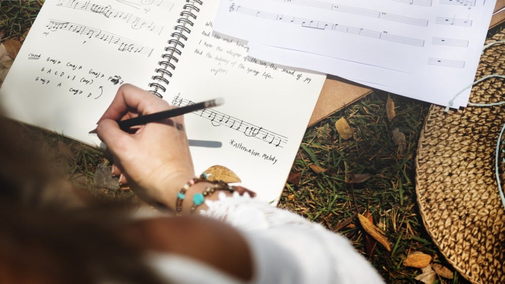 learn music theory to write songs with guitar