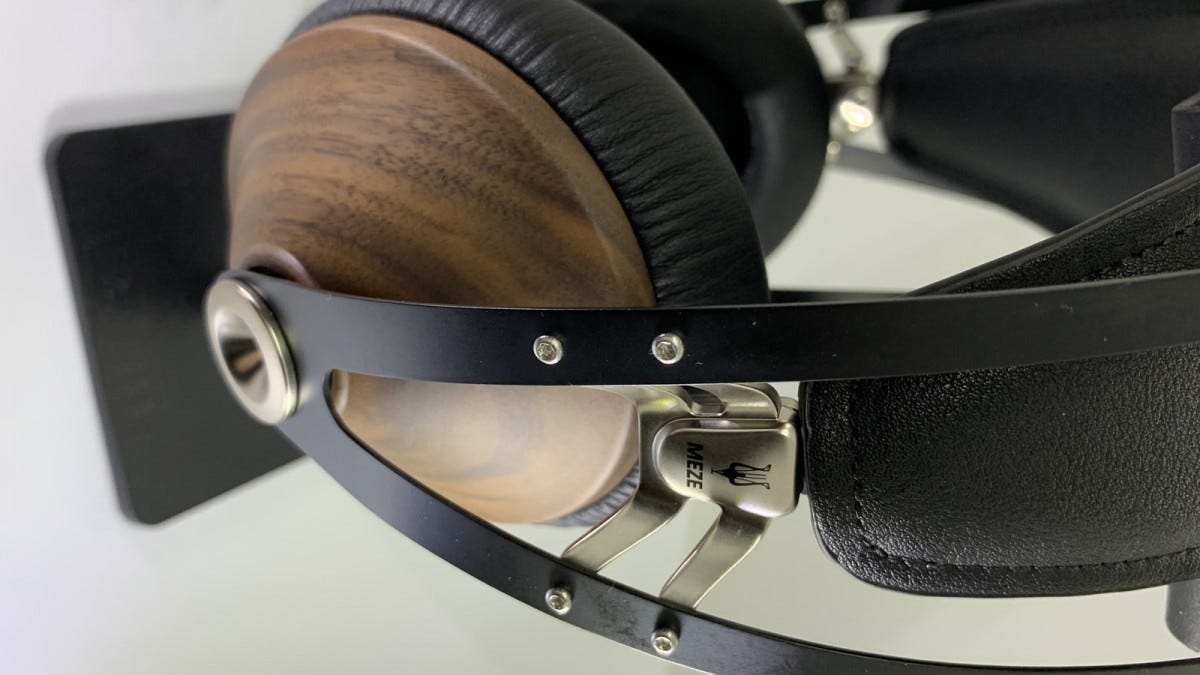 close-up of headphone's headband