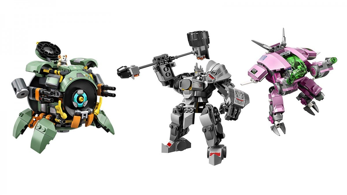 LEGO Overwatch D.Va/Reinhardt and Wrecking Ball Sets