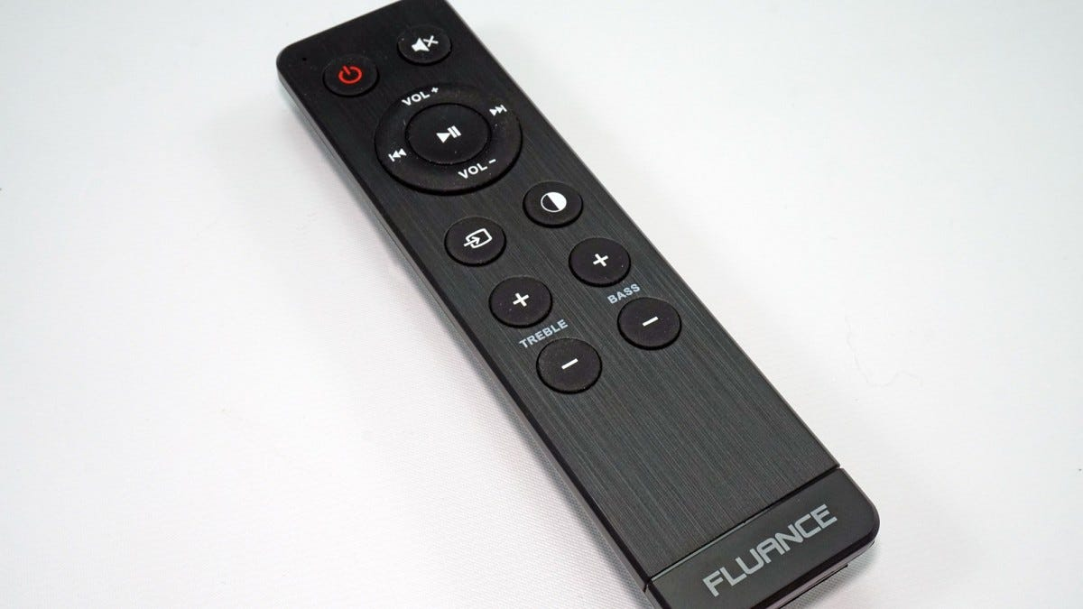 The remote for the Fluance Ai40 speakers.