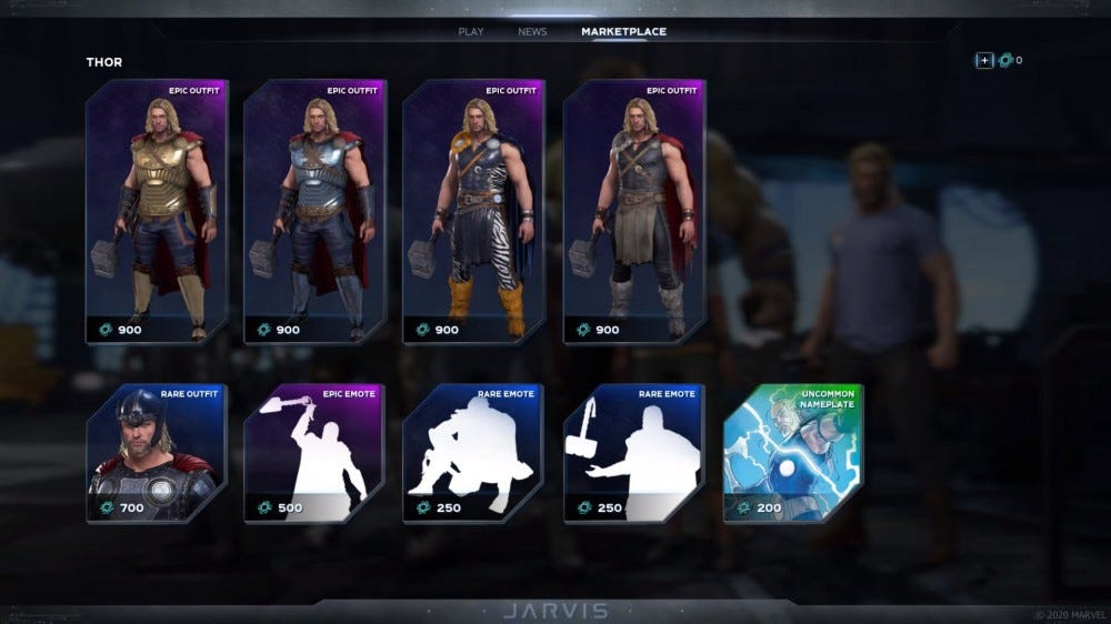 Avengers cosmetic upgrades