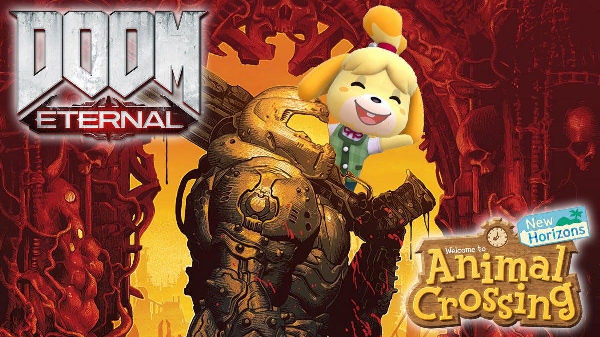 The Doom Slayer and Isabelle.