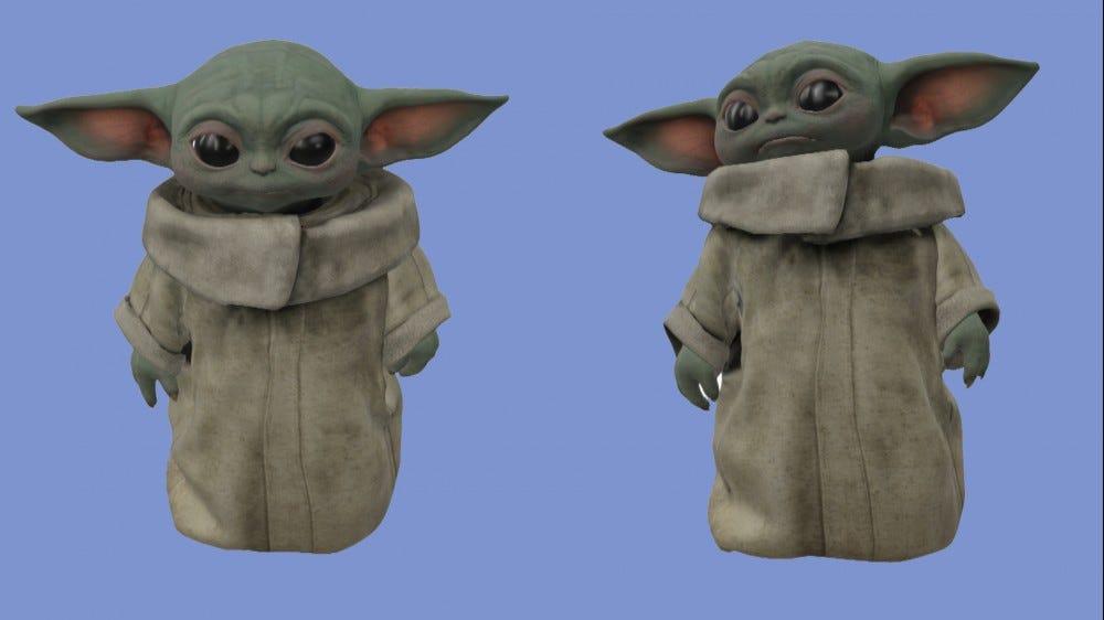 Grogu's 3D models