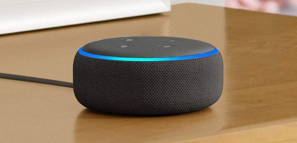 The Amazon Echo Dot, third generation.