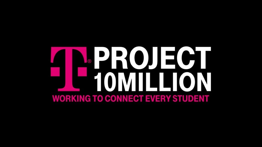 The T-Mobile Project 10Million logo against a black background