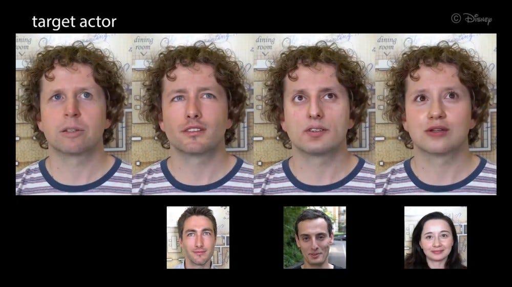 An example of Disney's deepfake technology.
