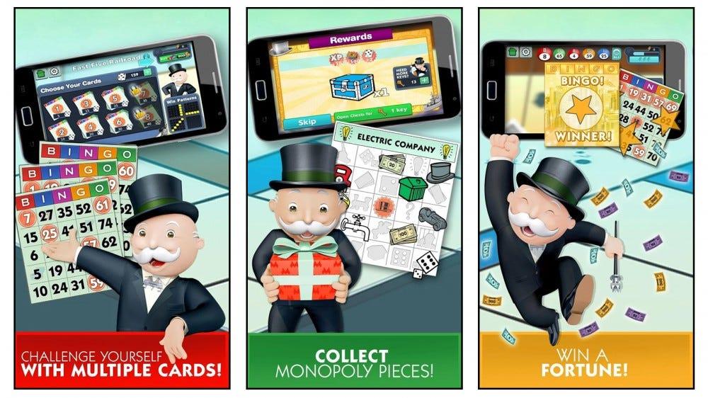 Monopoly Bingo mobile games