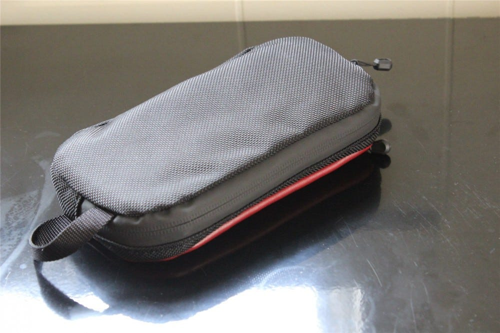 Showing the nylon back of the Jersey Pocket Tool Case.