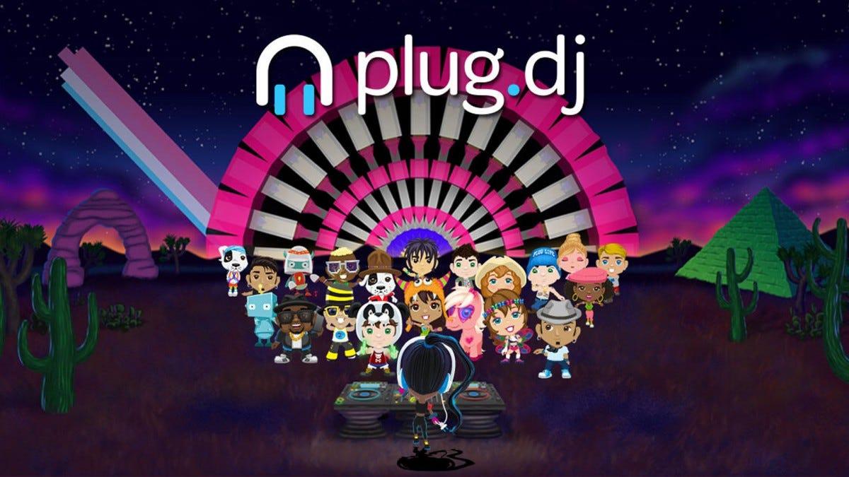 A screenshot of the Plug.DJ website.