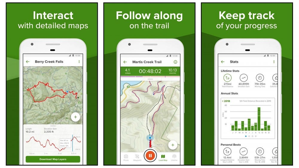 AllTrails best hiking app for iphone and android over 100,000 trails