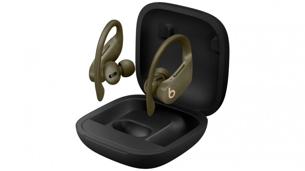 A photo of the PowerBeats Pro.