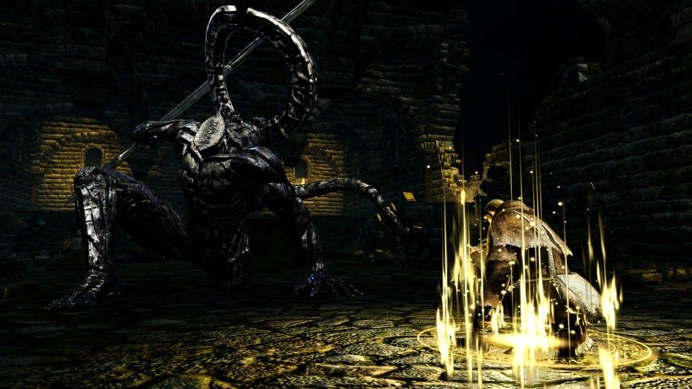 A Dark Souls főnöke harcol