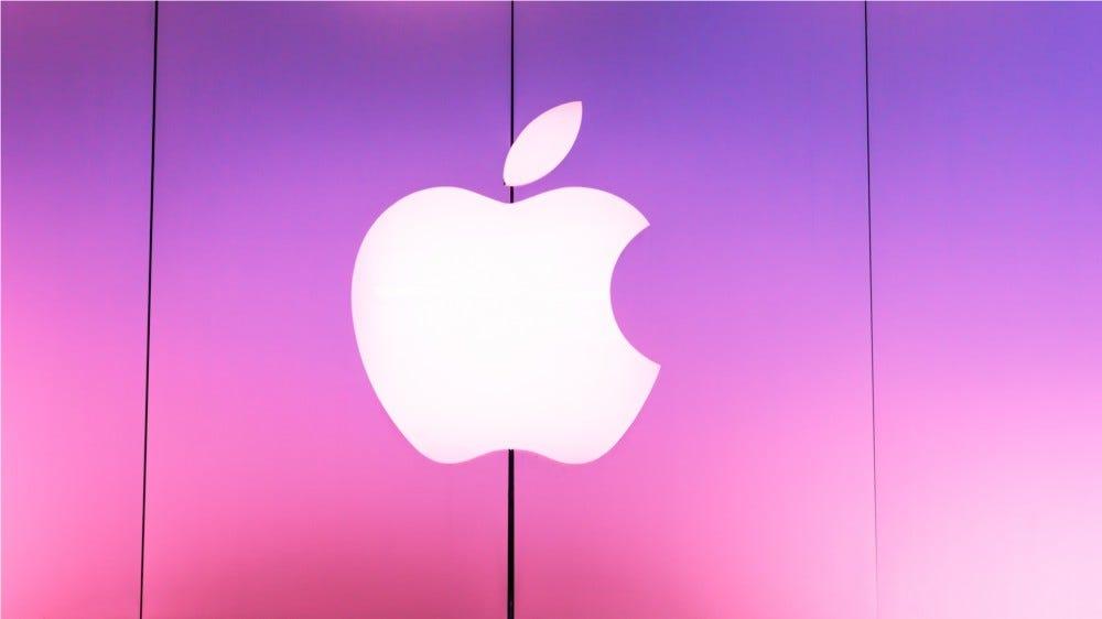 Apple logo at entrance of Apple store located in La Cantera Mall in San Antonio