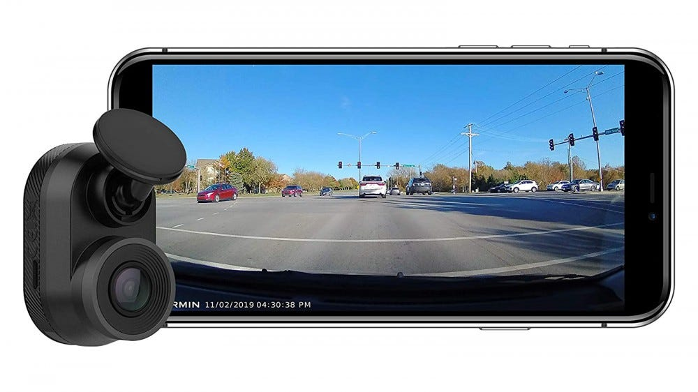 Garmin Dash Cam Mini and complementary mobile app