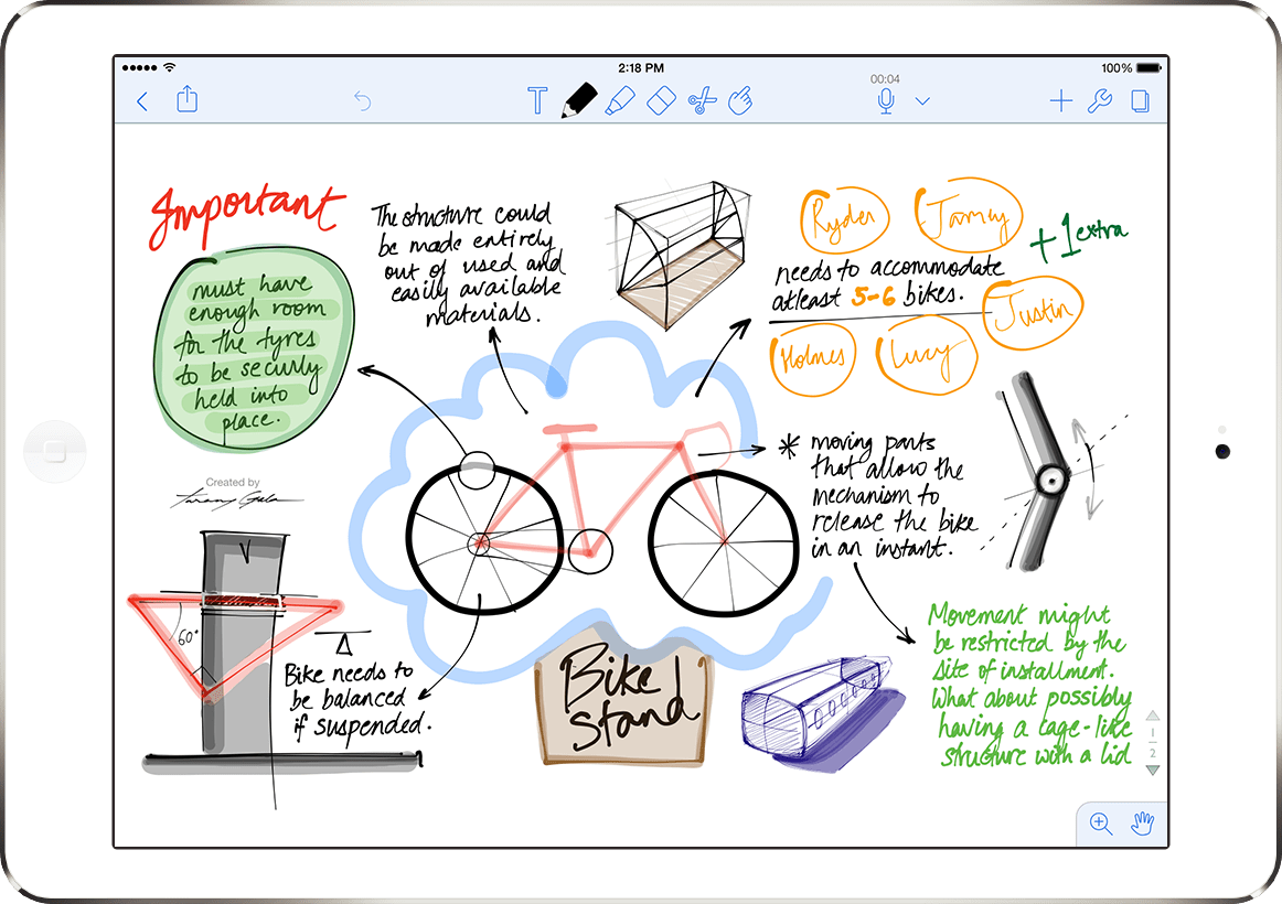 Ginger Labs Notability Drawn Note