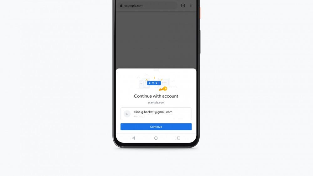 An Android phone asking for permission to connect to an account.