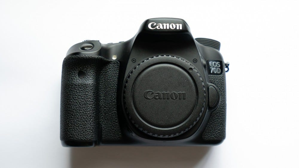 A photo of the Canon EOS 70D, a popular camera from the mid-2010s.