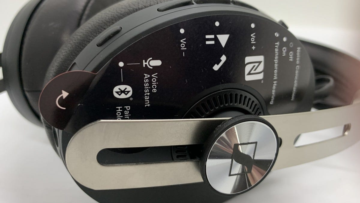 Image of side of earcup showing controls