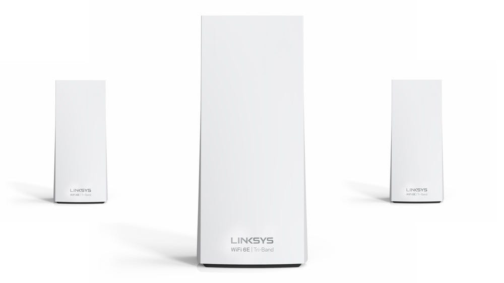 The Linksys AXE8400 Wi-Fi 6E Mesh System
