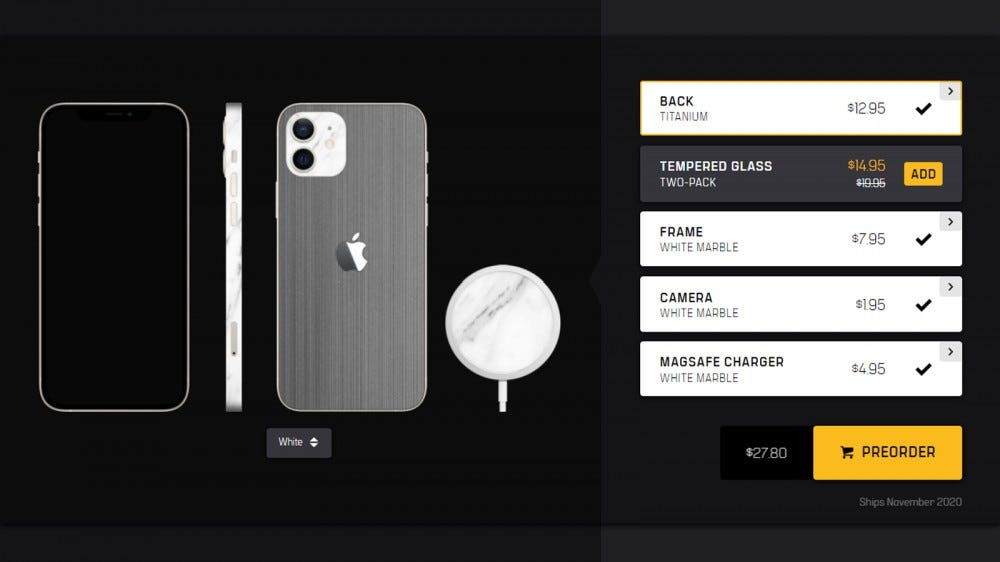 Dbrand Skinds for iPhone 12