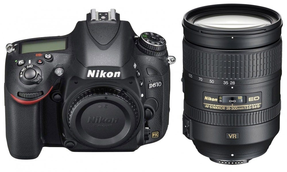 Nikon D610 body and 28-300mm lens