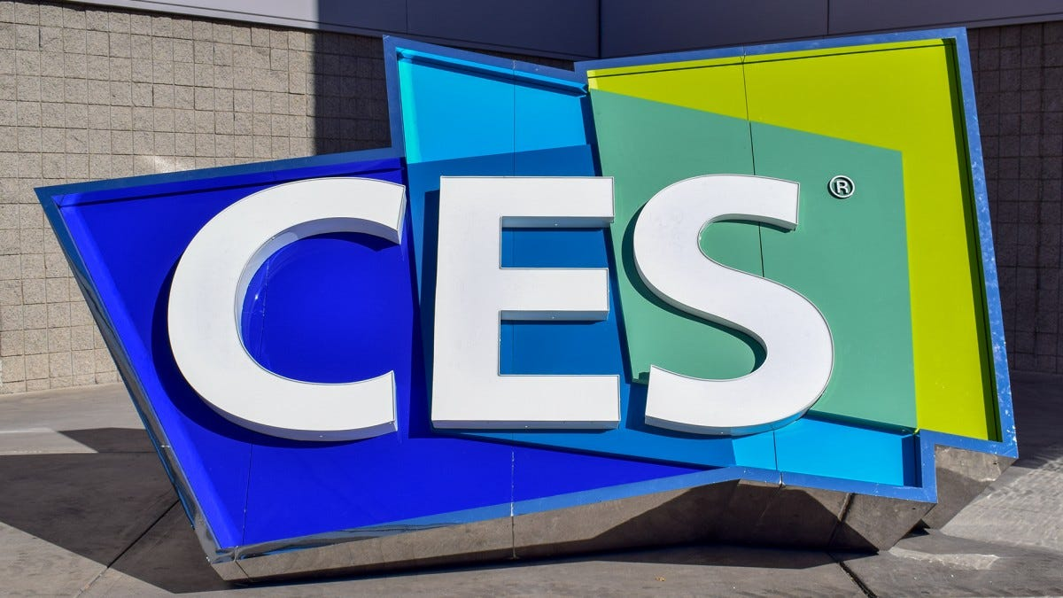 A photo of the CES logo.