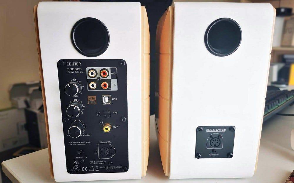 Edifier S880 DB rear speaker comparison