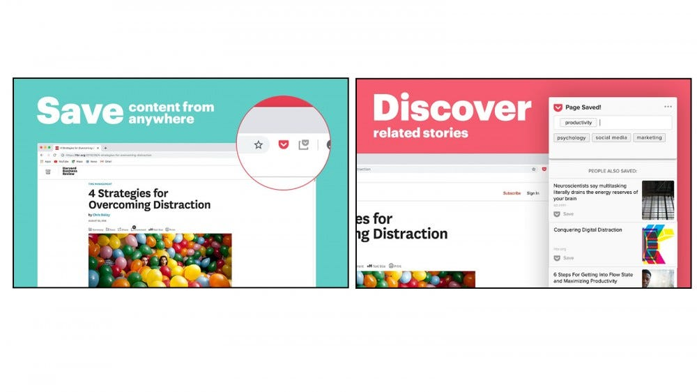 Save, Read, and Discover articles and more with Pocket