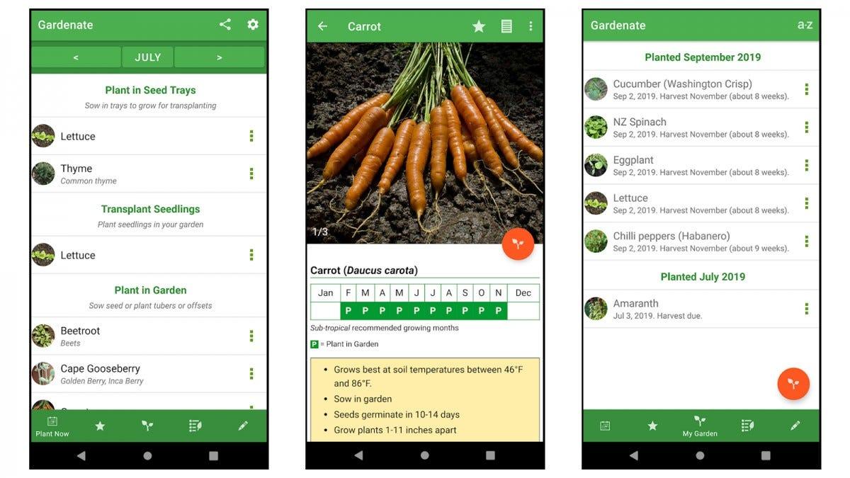 Gardenate app screenshots