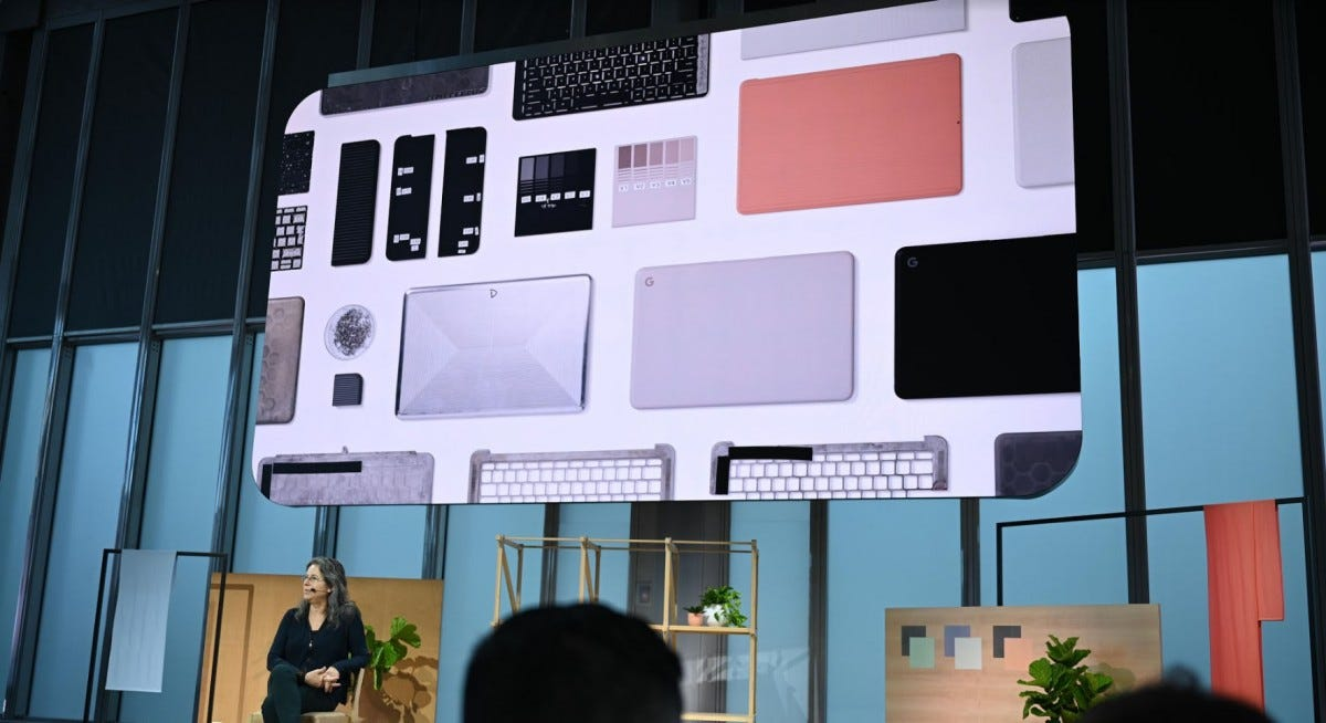 The Pixelbook Go at Google's event.