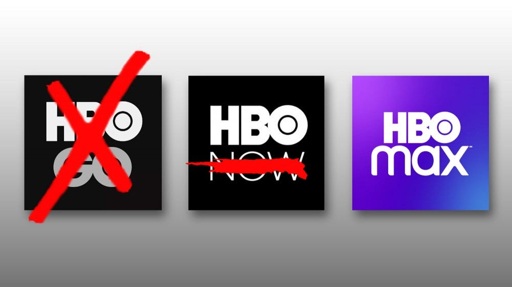 HBO Go, Now, and Max app logo