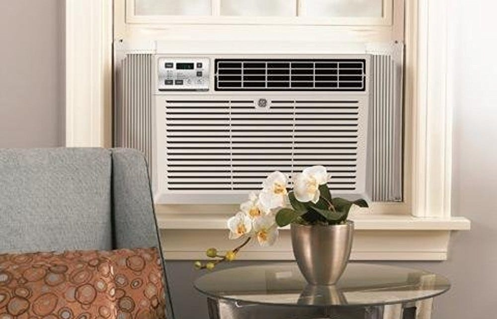 This LG in-window AC unit is easy to set up and operate.