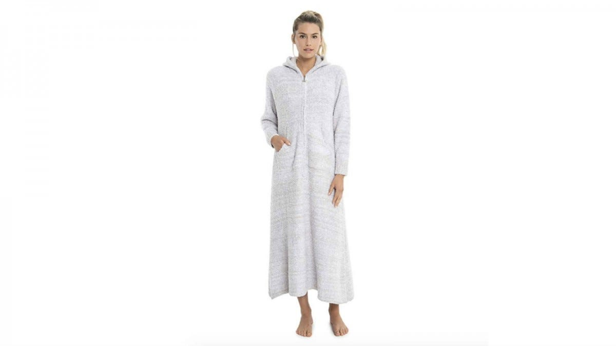 barefoot dreams zip up robe