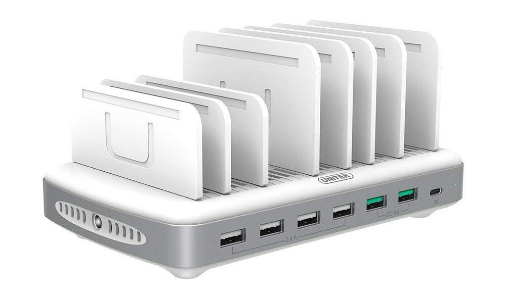 unitek, charging station, usb-c, multi-device charger,