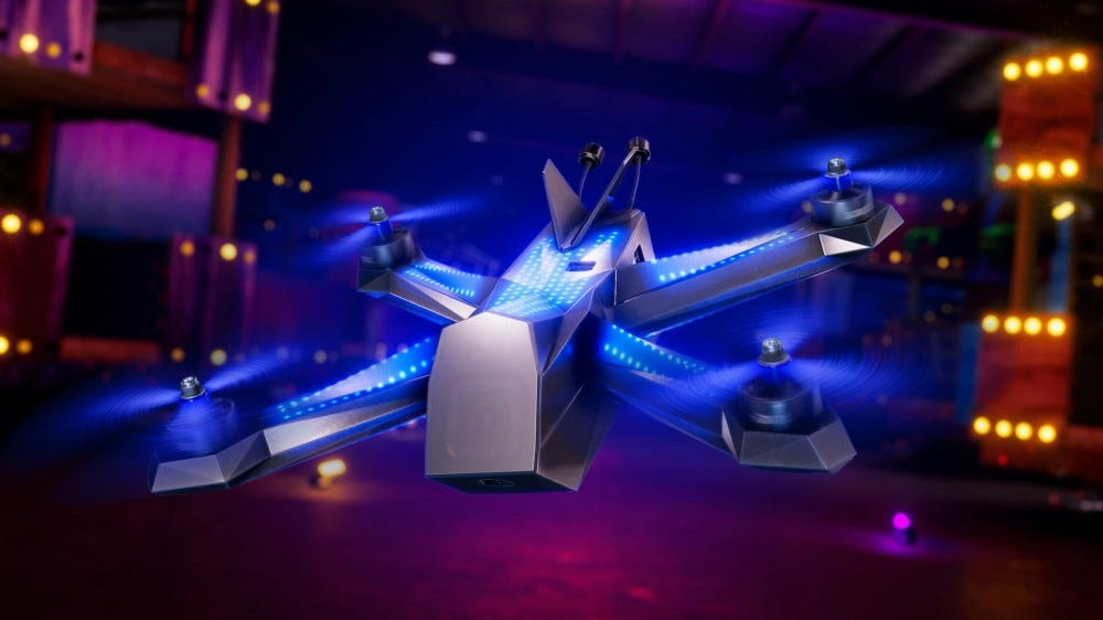 Racing drone; DRL promotional image