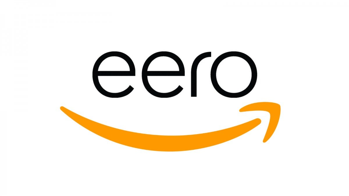 Eero logo combined with Amazon arrow logo