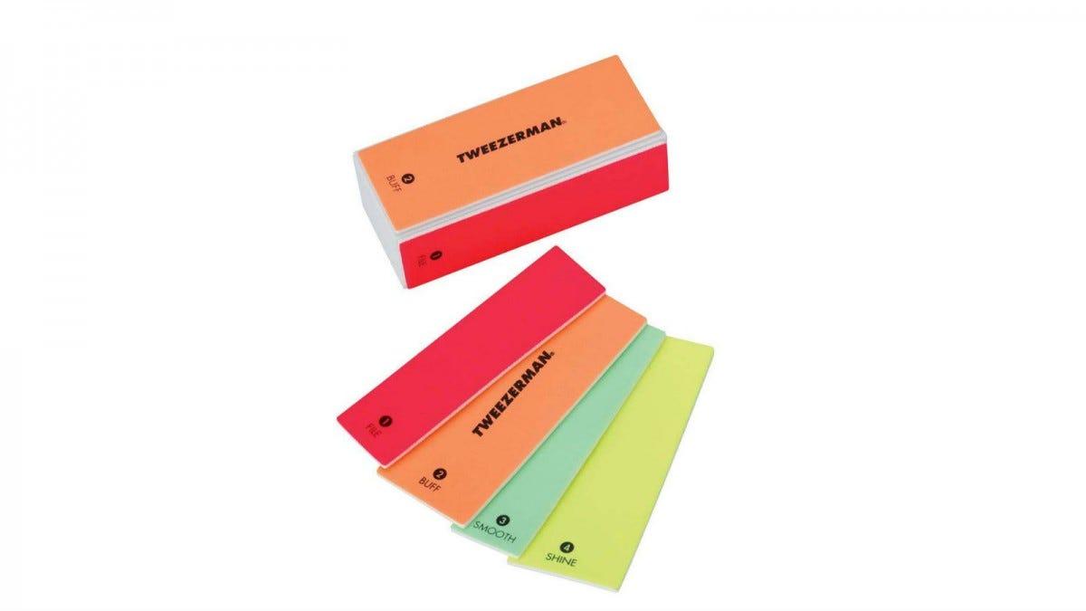 Tweezerman Neon Hot 4-In-1 File, Buff, Smooth & Shine