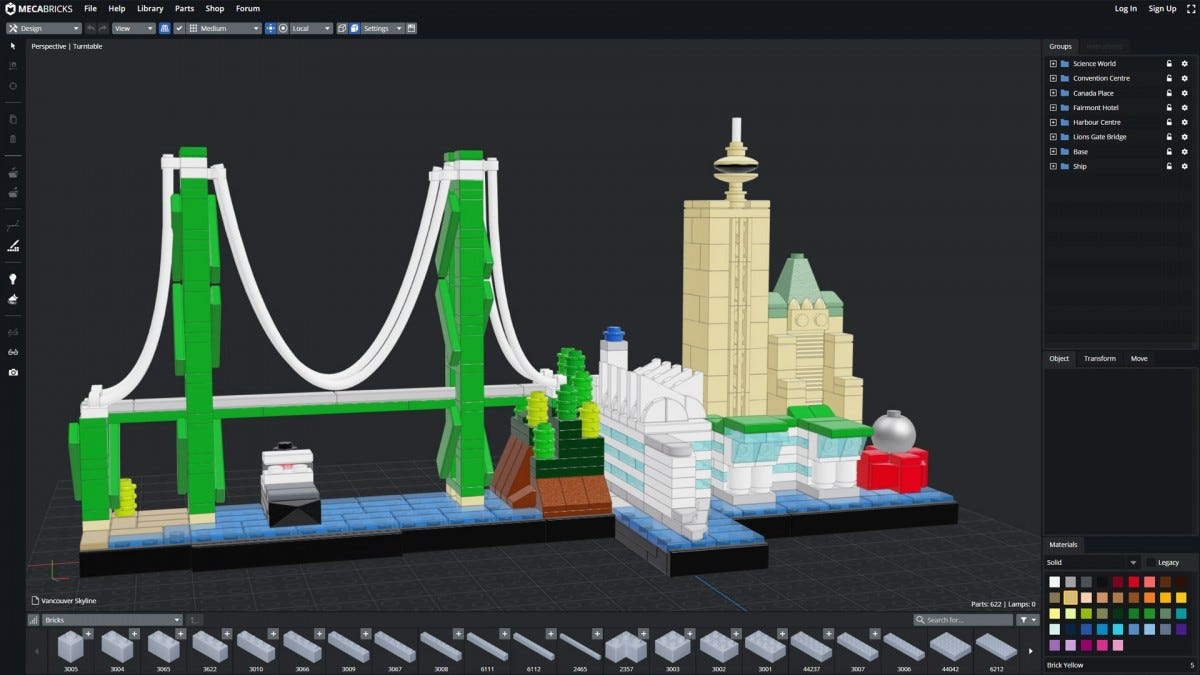 MecaBricks web-based program