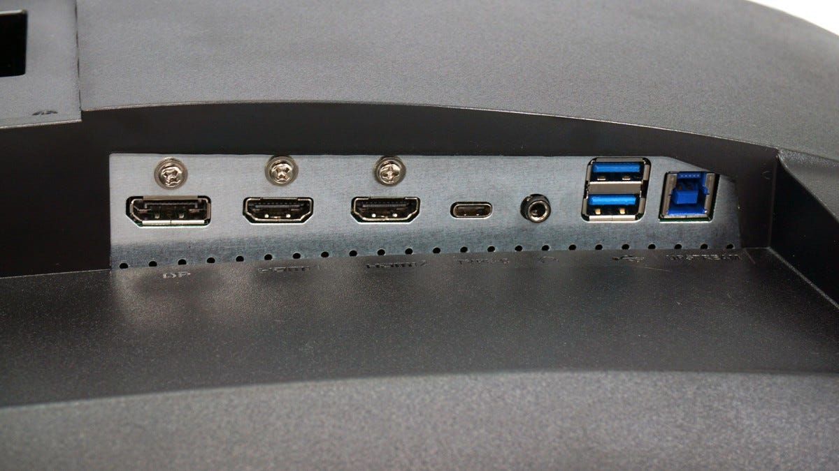 MSI Optix MAG272CQR ports.