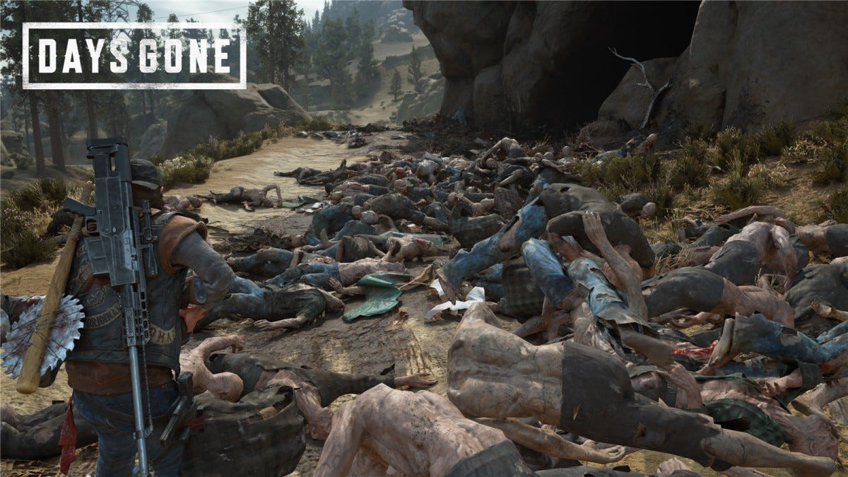 A dead horde in Days Gone