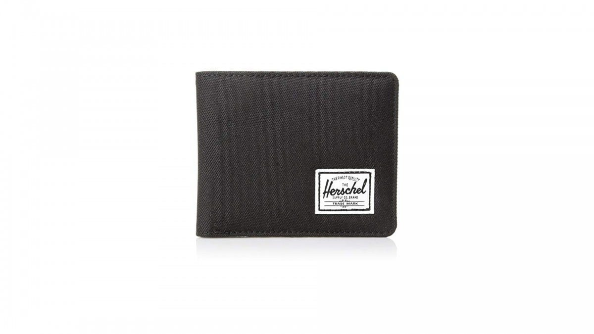 The Herschel nylon RFID blocking wallet.
