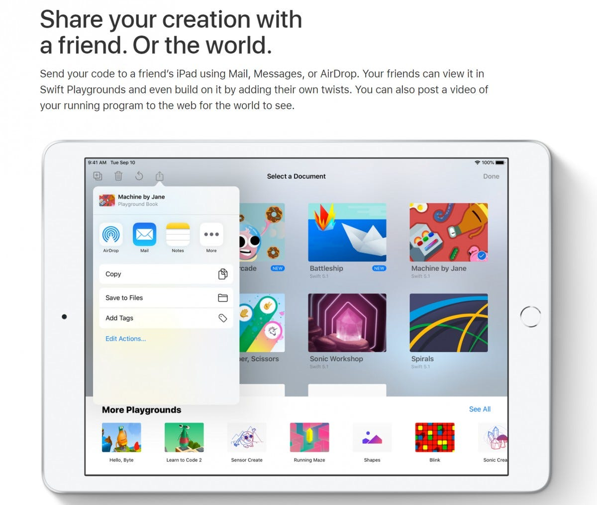 Swift Playgrounds App