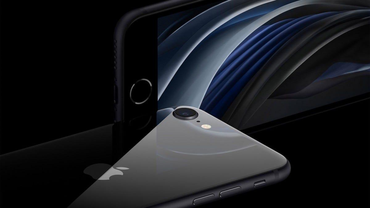 Mặt trước và mặt sau của iPhone SE