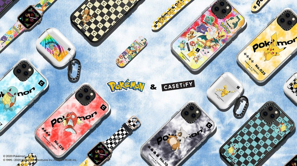 Pokemon-tagged phone bags and watch bands