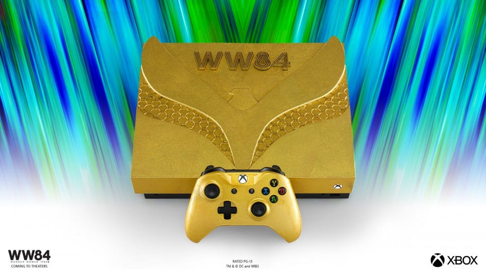 Wonder Woman 1984 24-carat gold console