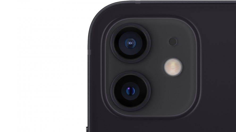 The iPhone 12 Mini's 2-camera array.