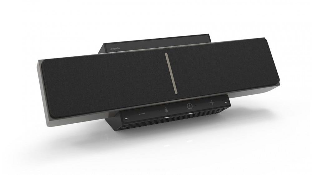A photo of the SoundBeamer, a speaker that beams audio straight to your ears.